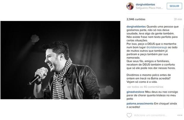 Dorgival no Instagram (Foto: Reprodução/Instagram)