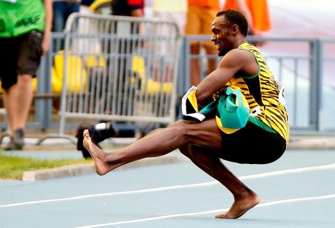 usain bolt mundial de atletismo dança (Foto: Agência Reuters)
