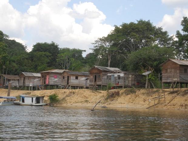Comunidade São José, no município de Laranjal do Jari (Foto: Gabriel Penha/G1)