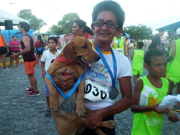 Na última corrida em caicó os dois concluíram a corrida de 9km (Foto: Divulgação/Acapam)