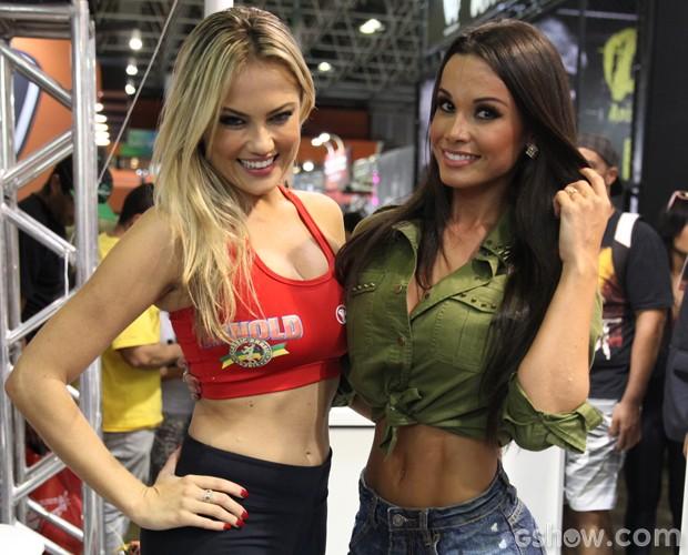 Fernanda e Ellen Rocche: duas verdadeiras beldades! (Foto: Pedro Curi / TV Globo)
