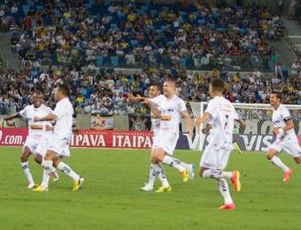Bragantino comemoração jogo Corinthians (Foto: André Romeu / VIPCOMM)