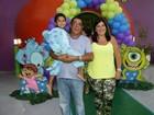 Zeca Pagodinho comemora aniversário do neto