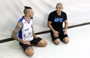 De passagem pelo Rio, Dan Hardy treina com José Aldo na Nova União