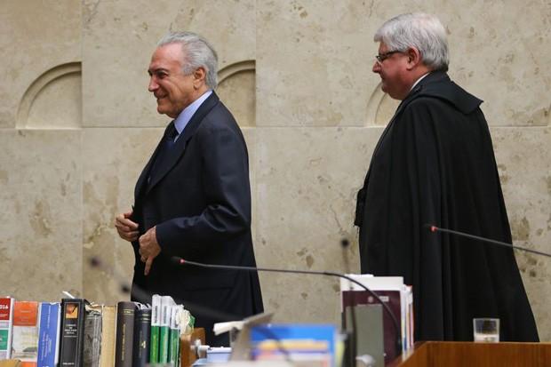 Michel Temer e Rodrigo Janot (Foto: Agência Brasil/Divulgação)