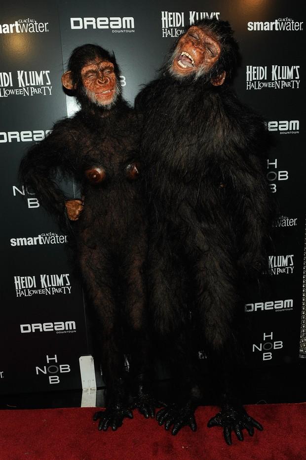 Heidi Klum e Seal vão fantasiados de macacos a festa de Halloween (Foto: Getty Images/ Agência)