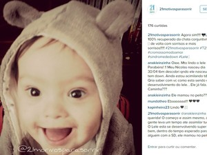 O pequeno Lelê mostra um pouco do dia a dia ans redes sociais (Foto: Reprodução/ Instagram)