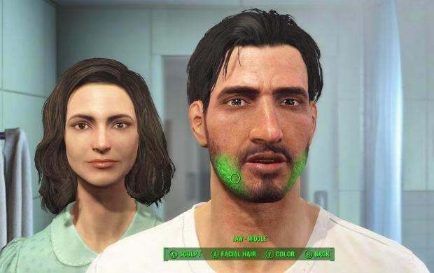 Modo de criação de personagem de 'Fallout 4' acontece em frente ao espelho (Foto: Divulgação/Bethesda)