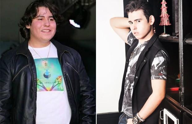 Antes e depois: Filipe Cavalcante iniciou reeducação alimentar em 2014 e perdeu mais de 30 quilos (Foto: Agnews e Márcio Desideri)