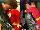 Ronaldo tem ciúmes da amizade do filho Alex com ex de Michele Umezu