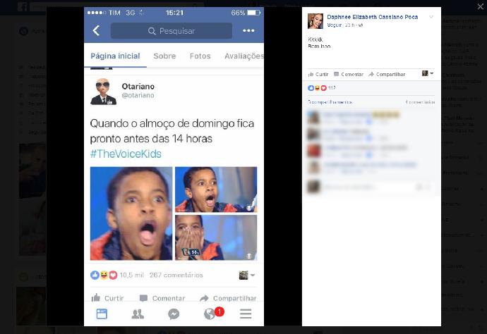 A irmã do cantor também se divertiu com os memes (Foto: Reprodução/internet)
