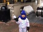 Ticiane Pinheiro posta vídeo de Rafa Justus vendo nevar pela primeira vez