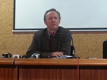 O secretário de Energia Elétrica do Ministério de Minas e Energia, Ildo Grüdtner, durante entrevista (Foto: Raquel Morais/G1)