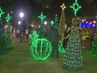 Decoração de Natal encanta turistas e moradores de Poços de Caldas, MG