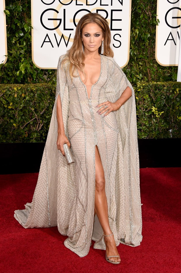 Jennifer Lopez no Globo de Ouro 2015 (Foto: Getty Images)