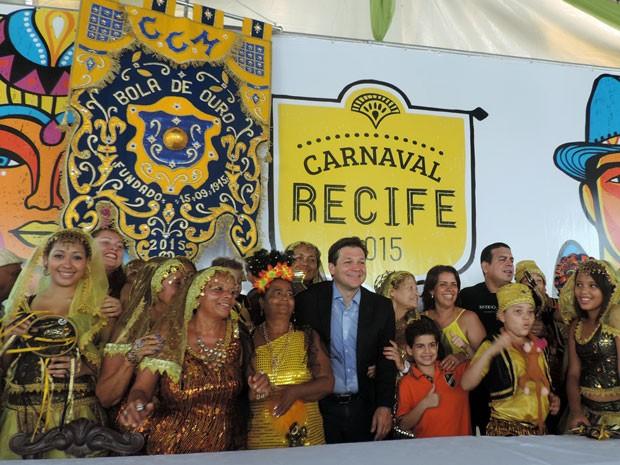 Prefeito do Recife, Geraldo Julio, em coletiva para anunciar a programação do Carnaval 2015. (Foto: Marina Barbosa / G1)