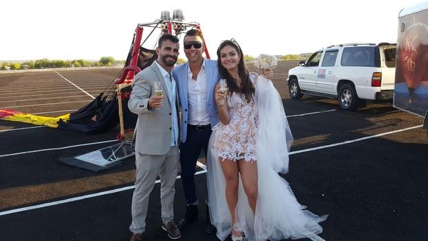 Laura Keller e Jorge Sousa se casam em Las Vegas (Foto:  dgvipservices/r2assessoria)