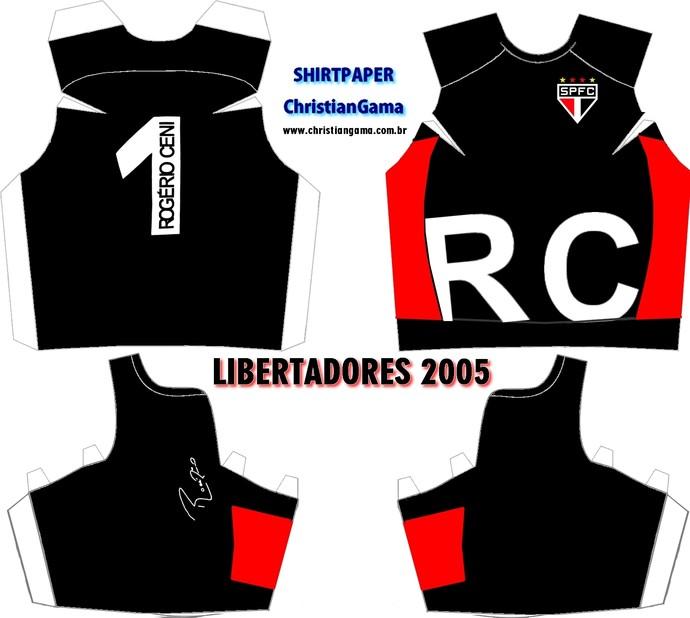 (NÃO USAR) Camisa Rogério Ceni Libertadores 2005 (Foto: GloboEsporte.com)