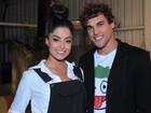 Aline Riscado diz não ter ciúmes de Felipe Roque: 'Ele é meu'