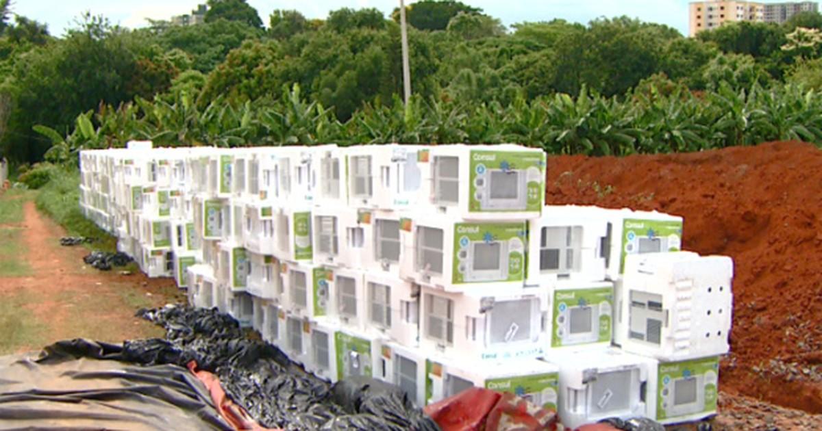 Carga roubada com 700 aparelhos de ar-condicionado é achada ... - Globo.com