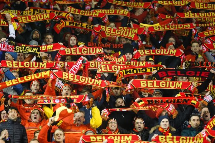 Torcida Bélgica eliminatórias eurocopa primeira lugar ranking Fifa (Foto: EFE)