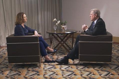 Sonia Bridi entrevista Al Gore (Foto: Divulgação)