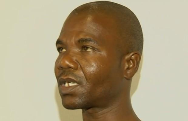 Felande Derilus afirma que foi agredido por não entender língua portuguesa (Foto: Reprodução/TV Anhanguera)