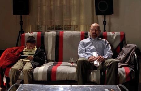 4ª temporada/13ºcapítulo. 'Face off'. A descoberta de que Walt envenenou uma criança com um suco de caixinha Reprodução da internet