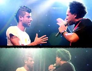 Léo Moura e o cantor Thalles Roberto (Foto: Reprodução / Twitter)