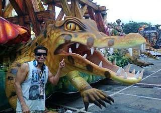 Artista de Parintins, Emerson Pacheco, trabalha na Vai Vai de São Paulo durante o carnaval (Foto: Divulgação/Arquivo Pessoal)