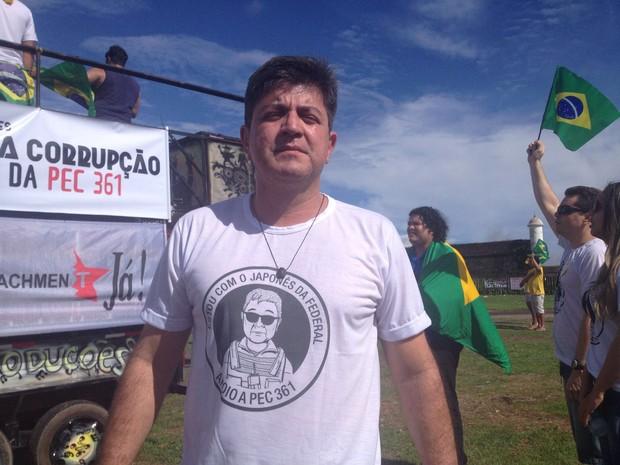 Valcácio Santos, presidente do Sindicato dos Agentes Federais do Amapá (Foto: Abinoan Santiago/G1)