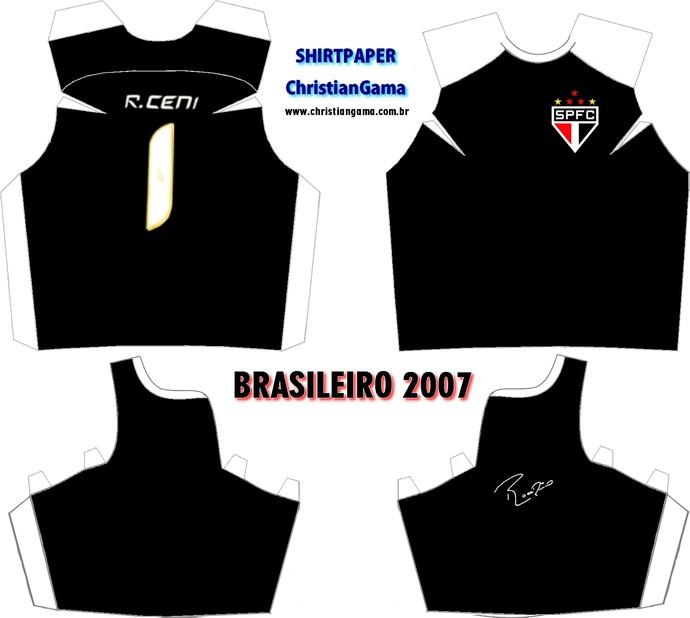 (NÃO USAR) Camisa Rogério Ceni Brasileiro 2007 (Foto: GloboEsporte.com)