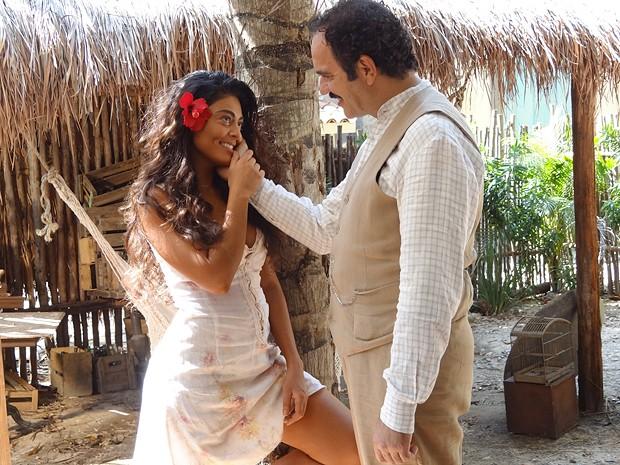 Gabriela e Nacib decidem ser felizes sem amarras da sociedade (Foto: Gabriela/TV Globo)