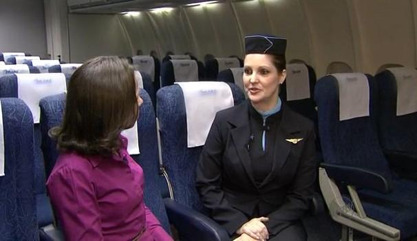 Quadro mostra os desafios e benefícios do comissário de voo (Foto: Reprodução EPTV)