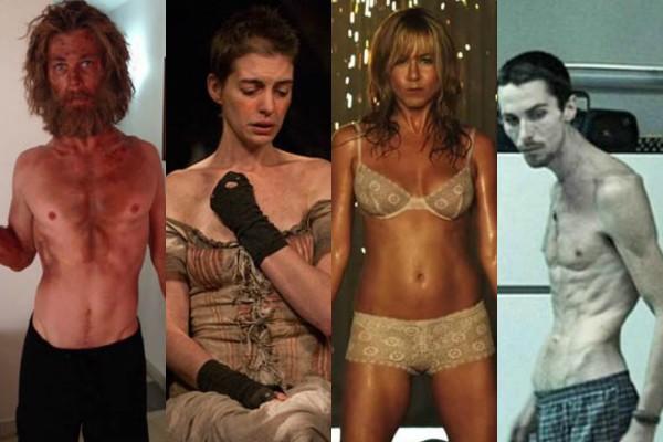 Chris Hemsworth, Anne Hathaway, Jennifer Aniston e Christian Bale (Foto: Reprodução)