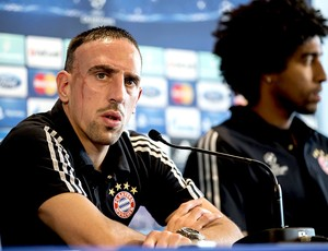 Ribery na coletiva do Bayern de Munique (Foto: EFE)