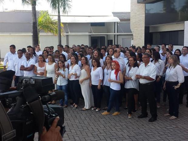 Funcionários da Mirante se reúnem em vinheta de fim de ano (Foto: Lucas Vieira/G1)
