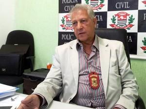 Aloísio Pires de Araújo, titular da Delegacia Sede de Praia Grande, SP (Foto: Rodrigo Martins/G1)