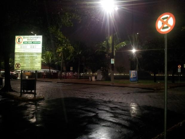 Manifestação em São Vicente é cancelada (Foto: Leandro Campos/G1)