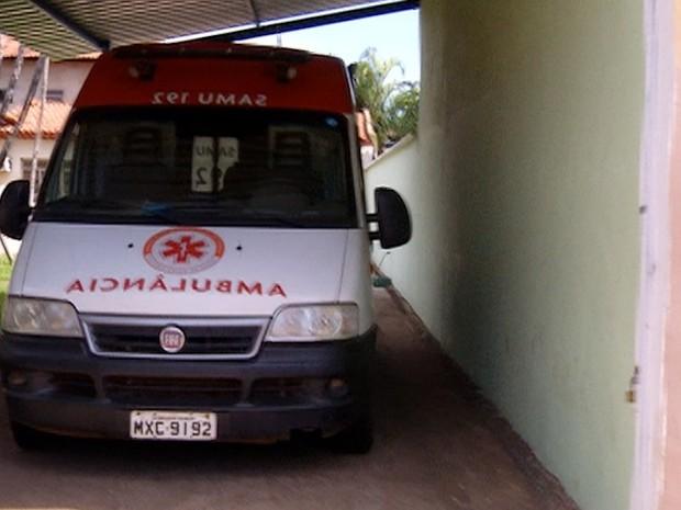 Ambulância do Samu em Palmas  (Foto: Reprodução/TV Anhanguera)