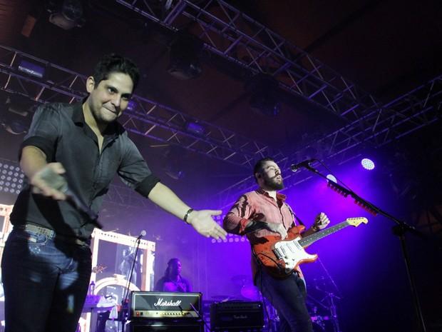 Jorge e Mateus em show em São Paulo (Foto: Paduardo/ Ag. News)