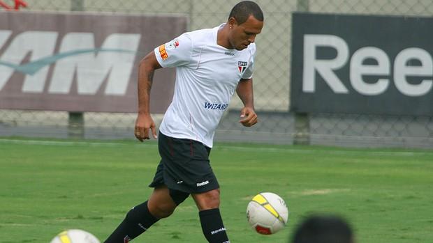 Luis Fabiano, Treino São Paulo (Foto: Anderson Rodrigues / Globoesporte.com)