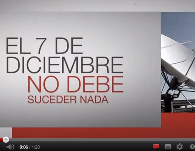 Trecho de vídeo em que o grupo Clarín diz que, apesar de o governo alardear a data, não deve acontecer nada no dia 7 (Foto: Reprodução/YouTube)