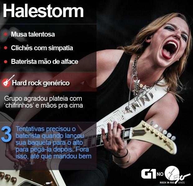 Halestorm tocou no Palco Sunset no quarto dia de Rock in Rio (Foto: Fabio Tito/G1)