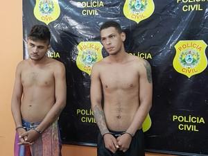 Dupla foi presa nesta sexta-feira (24) em Cruzeiro do Sul (Foto: Anny Barbosa/G1)