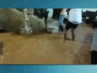 Temporal alaga ruas no Sul do RJ e moradores são resgatados de bote