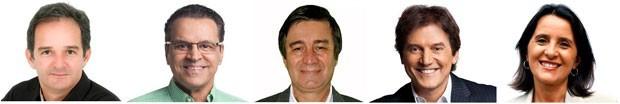 Candidatos ao governo do Rio Grande do Norte (Foto: Divulgação)
