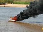 Lancha explode e deixa promotora de Justiça e família feridos em rio de MT