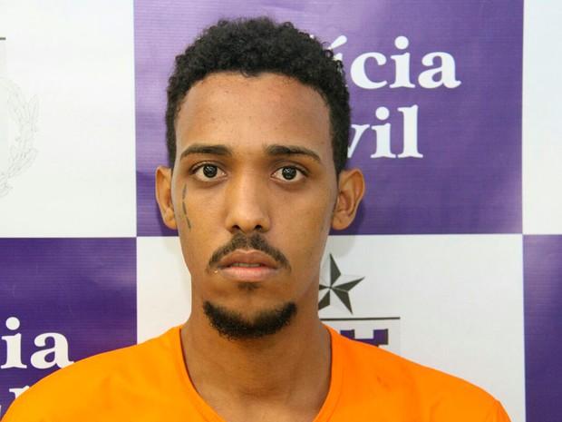 Ueslei, principal suspeito da morte do cantor e compositor Felipe Yves. Bahia (Foto: SSP-BA / Divulgação)