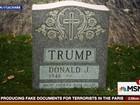 Lápide com nome de Donald Trump aparece no Central Park em Nova York